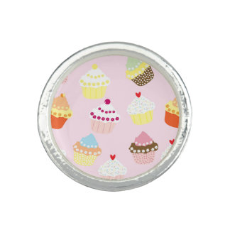 Sweet and Colorful Cupcake Pattern Ring
