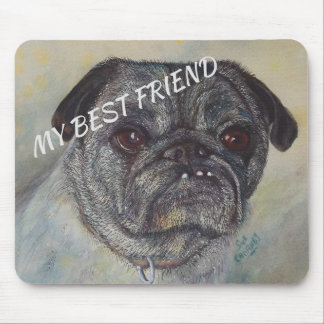 SWEET AND CUTE PUG MOUSE PAD