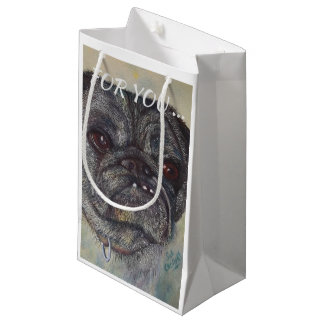 SWEET AND CUTE PUG SMALL GIFT BAG
