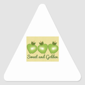 Sweet and Golden Triangle Sticker