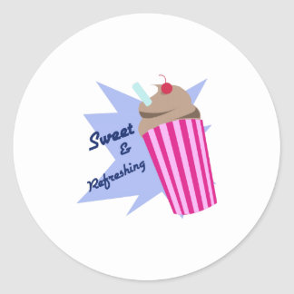 Sweet And Refreshing Round Stickers