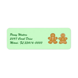 Sweet and Spicy Gingerbread Couple Return Address Label