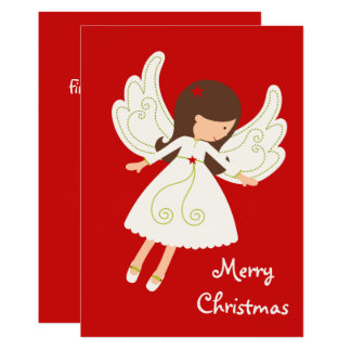 "Sweet Angel ""Merry Christmas"" Holiday Card"