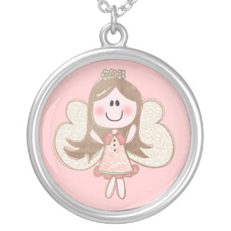 Sweet Angel Silver Plated Necklace