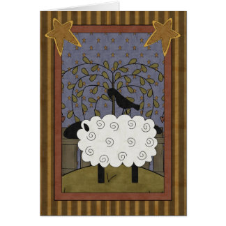 Sweet Anniversary Sheep & Raven Greeting Card