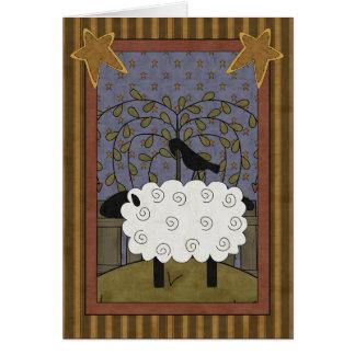 Sweet Anniversary Sheep & Raven Greeting Card