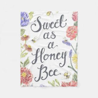 Sweet as a Honey Bee Fleece Blanket
