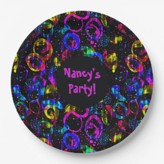 Sweet as Candy Black colorful custom plate