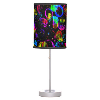 Sweet as Candy Black colorful custom Table Lamp