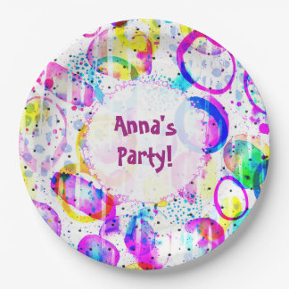 Sweet as Candy colorful custom Paper Plate