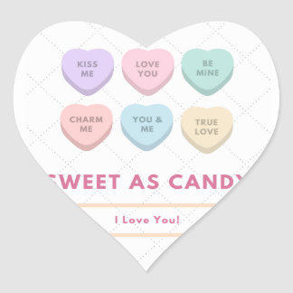 Sweet As Candy - I Love You Heart Sticker