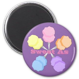 Sweet As Cotton Candy 2 Inch Round Magnet