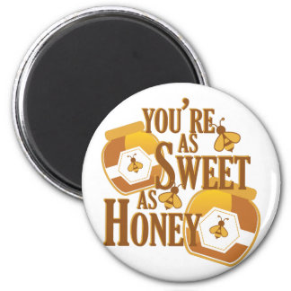 Sweet As Honey 2 Inch Round Magnet