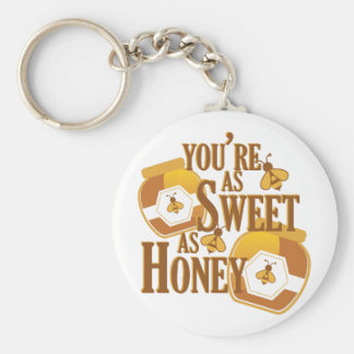 Sweet As Honey Basic Round Button Keychain