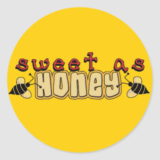 Sweet as Honey Tshirts and Gifts Classic Round Sticker