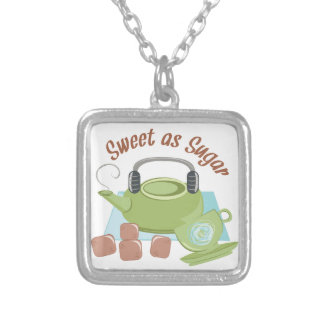 Sweet As Sugar Silver Plated Necklace
