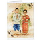 Sweet Asian Couple Card