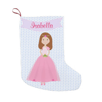Sweet Auburn Hair Princess Personalized Stocking