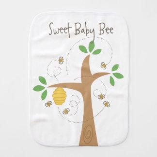 Sweet Baby Bee Burp Cloth