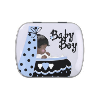 Sweet Baby Black and Blue Baby Shower Candy