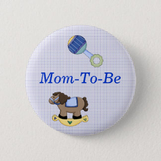Sweet Baby Boy Shower Mommy Pin Button