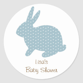 Sweet Baby Bunny Blue Envelope Seals Stickers