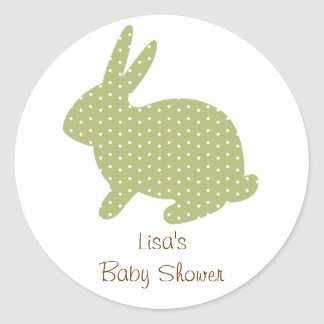 Sweet Baby Bunny Green Envelope Seals Stickers