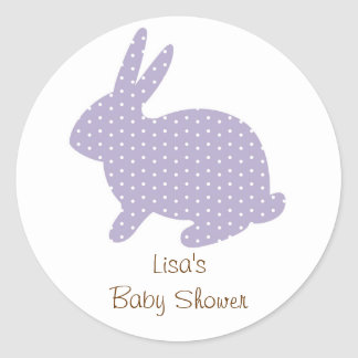 Sweet Baby Bunny Lavender Envelope Seals Stickers