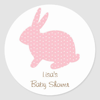 Sweet Baby Bunny Pink Envelope Seals Stickers