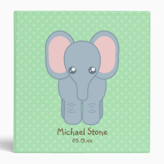 Sweet Baby Elephant 3 Ring Binders