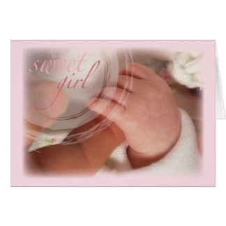 Sweet Baby Girl Congratulations Cards