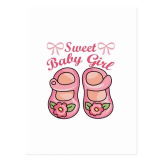 SWEET BABY GIRL POSTCARD