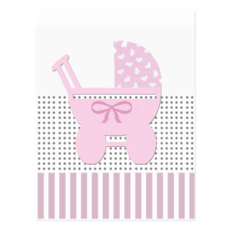 Sweet Baby Girl Shower Invitation Postcard
