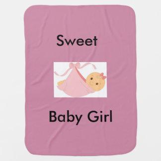 Sweet Baby Girl Stroller Blankets