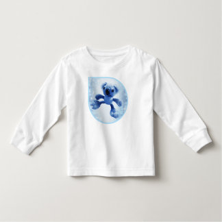 Sweet baby koala bear in a cute snowy raindrop toddler t-shirt