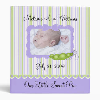 Sweet Baby Pea Photo 3 Ring Binder