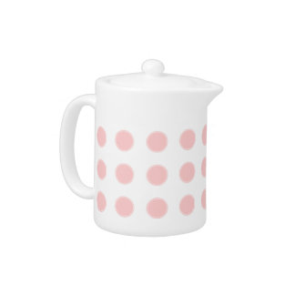 Sweet Baby Pink Polka Dots on White