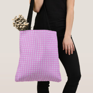 Sweet-Baby-Pink-White-Floral-Totes-Bags_Multi-Sz Tote Bag