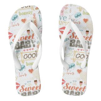 Sweet Baby Text Design Your Color  ID237 Flip Flops