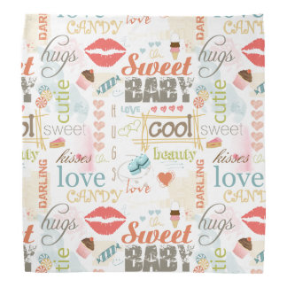 Sweet Baby Text Design Your Color  ID237 Kerchiefs