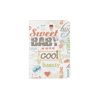 Sweet Baby Text Design Your Color  ID237 Passport Holder