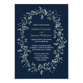 "Sweet Baby's Breath Wedding Invite 5"" X 7"" Invitation Card"