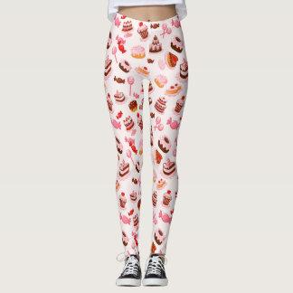 Sweet background leggings