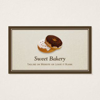 Sweet Bakery Donuts Baker - Simple Professional Business Card