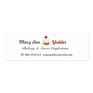Sweet Bakery  Pretty Cupcakes Baker Confections Pack Of Skinny Business Cards