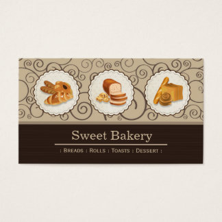 Sweet Bakery Shop - Breads Rolls Toasts Dessert Business Card