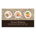 Sweet Bakery Store - Custom Cakes Pastry Macarons Pack Of Standard Business Cards