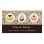 Sweet Bakery Store - Lovely Custom Cupcakes Double-Sided Standard Business Cards (Pack Of 100)