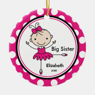 Sweet Ballerina Big Sister Christmas Ornament