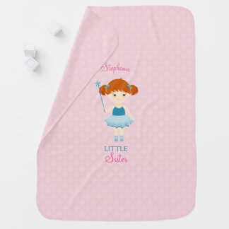 Sweet Ballerina Little Sister Baby Blanket